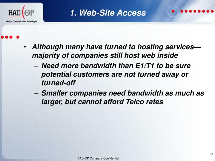 Although many have turned to hosting services—majority of companies still host web inside
