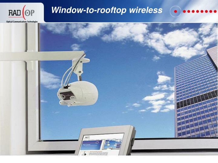 Window-to-rooftop wireless