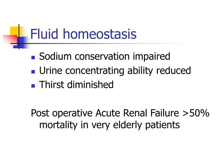 Fluid homeostasis