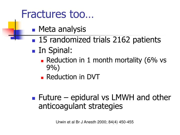 Fractures too…