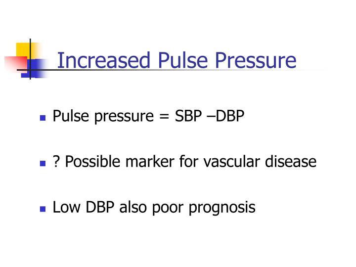 Increased Pulse Pressure