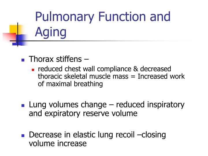 Pulmonary Function and Aging