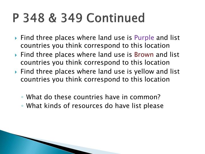 P 348 & 349 Continued