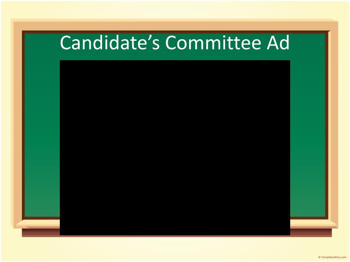 Candidate's Committee Ad