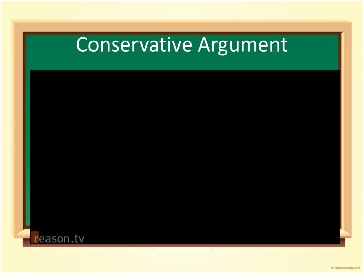 Conservative Argument