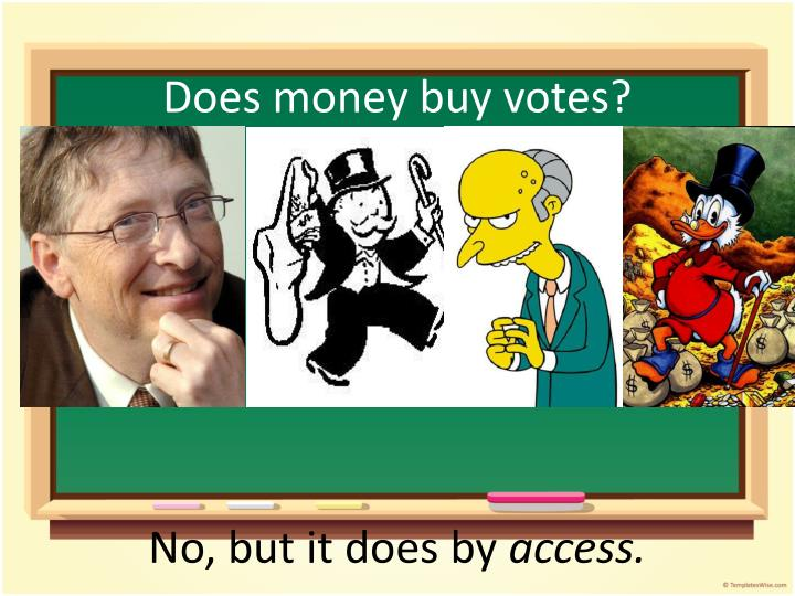 Does money buy votes?