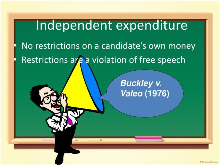 Independent expenditure