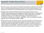 appendix public sector clients