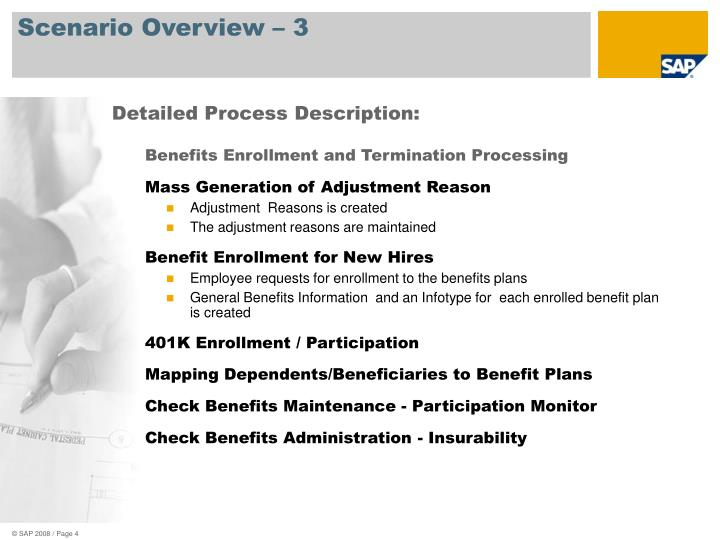 Benefits Enrollment and Termination Processing