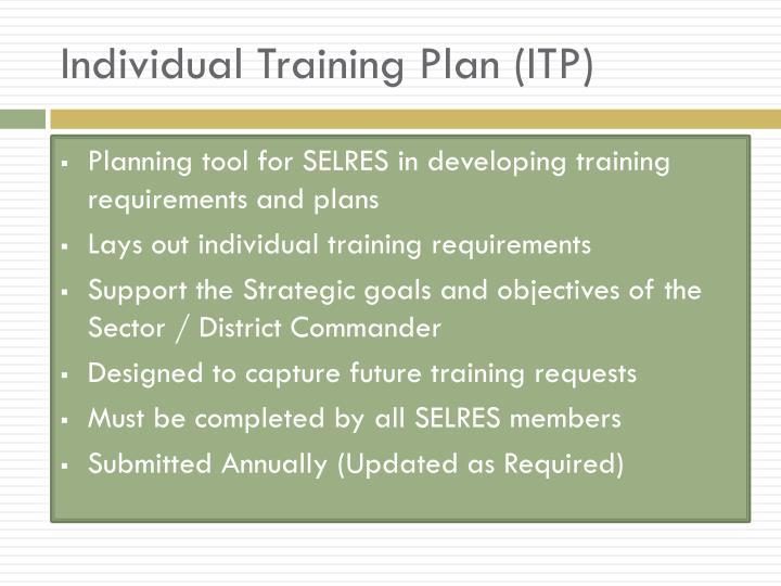 Individual Training Plan (ITP)