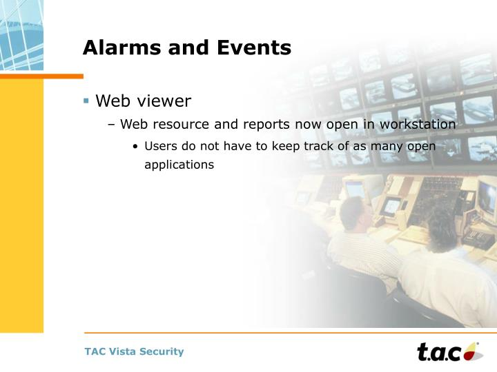 Alarms and Events