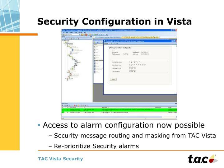 Security Configuration in Vista