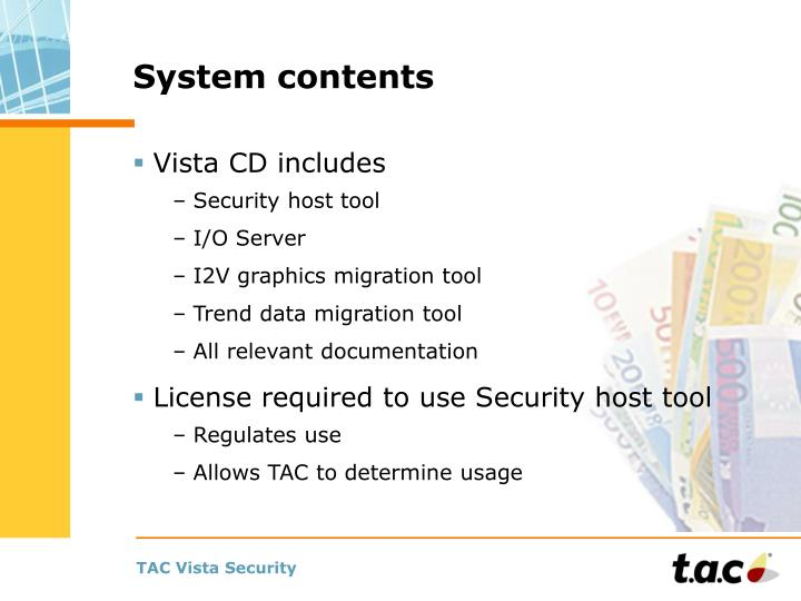 System contents