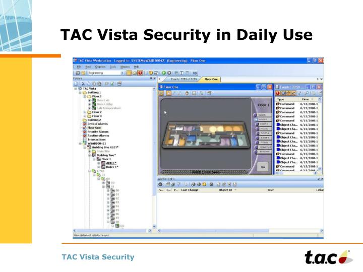 TAC Vista Security in Daily Use