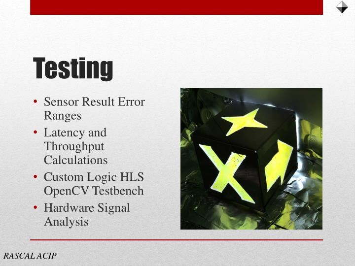 Sensor Result Error Ranges