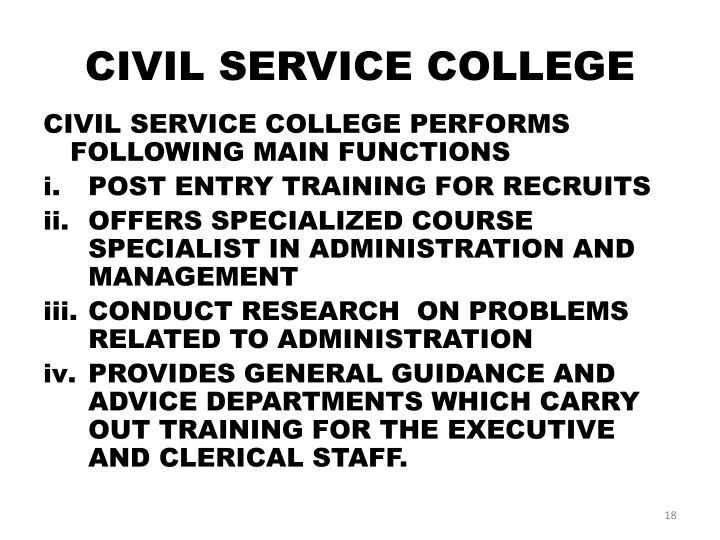 CIVIL SERVICE COLLEGE