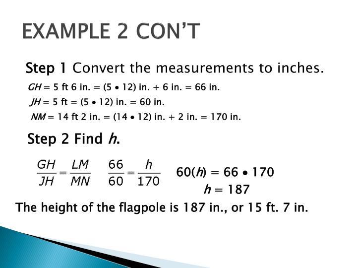 EXAMPLE 2 CON'T