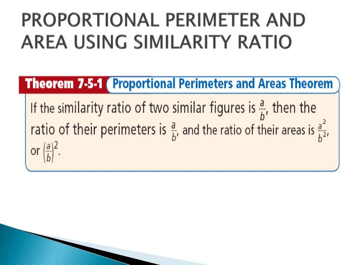 PROPORTIONAL PERIMETER AND AREA USING SIMILARITY RATIO