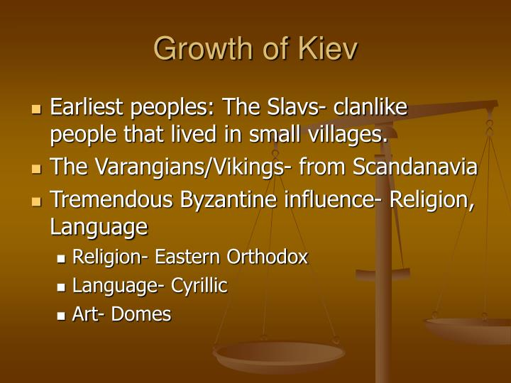 Growth of Kiev