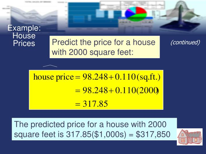 Example: House Prices