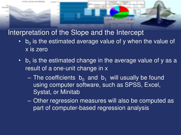 Interpretation of the Slope and the Intercept