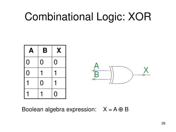 Combinational Logic: XOR