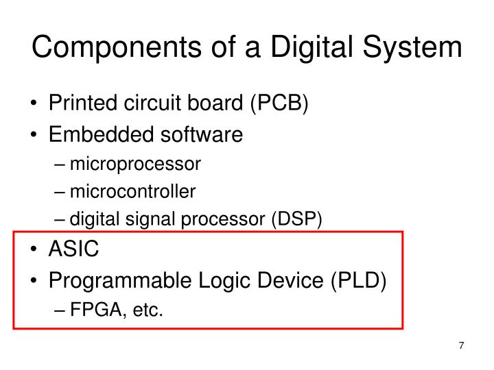 Components of a Digital System