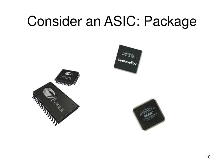 Consider an ASIC: Package