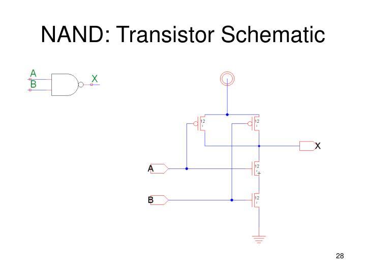 NAND: Transistor Schematic