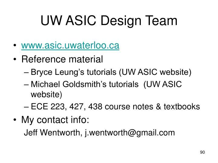 UW ASIC Design Team