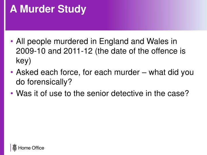 A Murder Study
