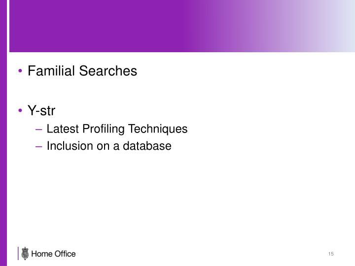 Familial Searches