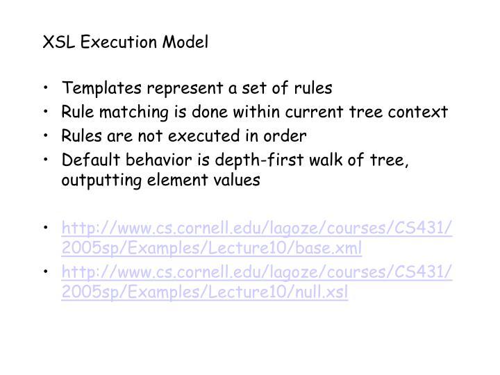 XSL Execution Model