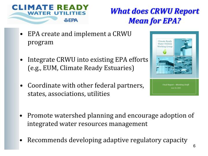 What does CRWU Report Mean for