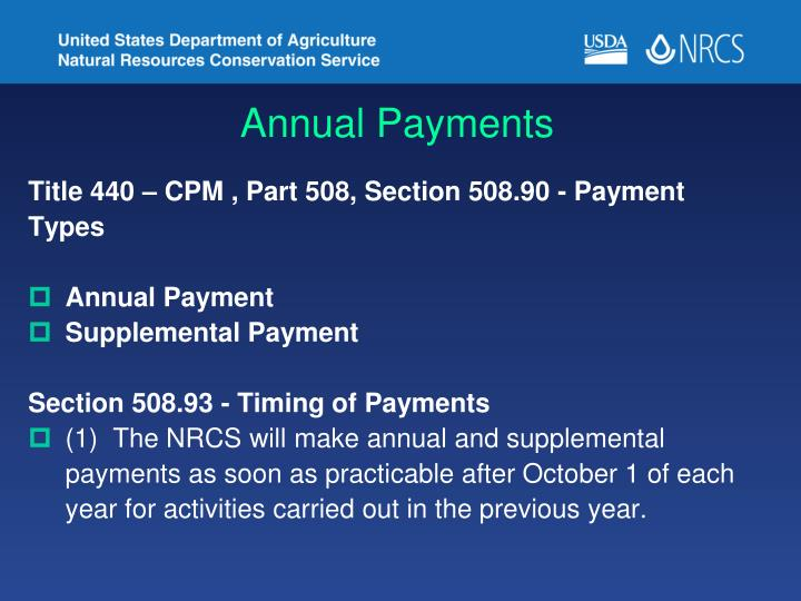 Annual Payments