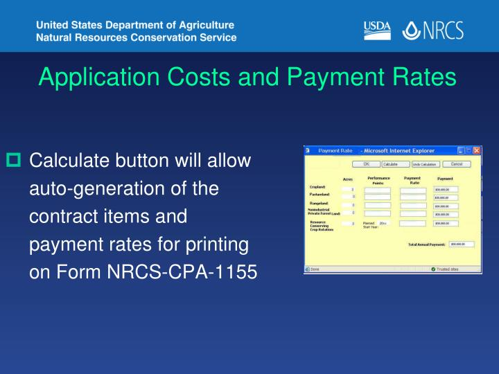 Application Costs and Payment Rates