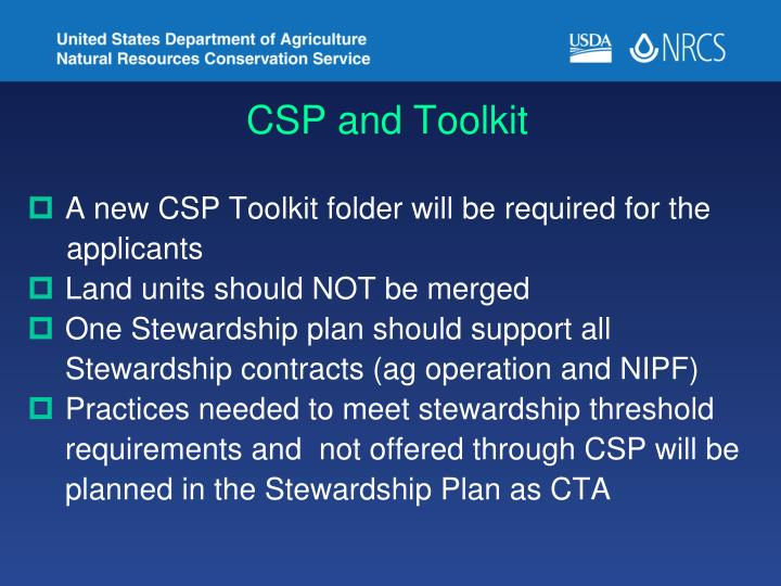 CSP and Toolkit