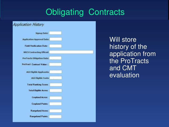 Obligating  Contracts