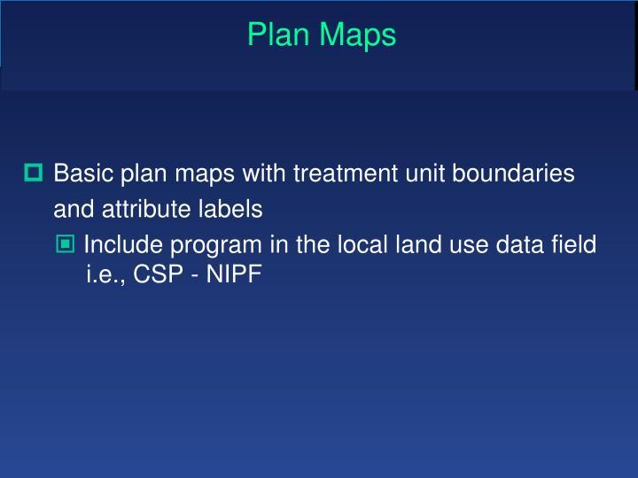 Plan Maps