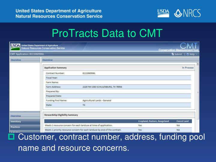 ProTracts Data to CMT