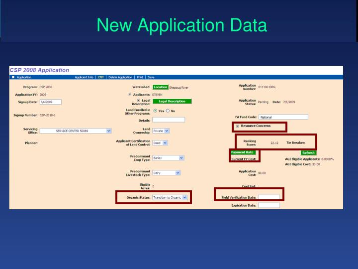 New Application Data