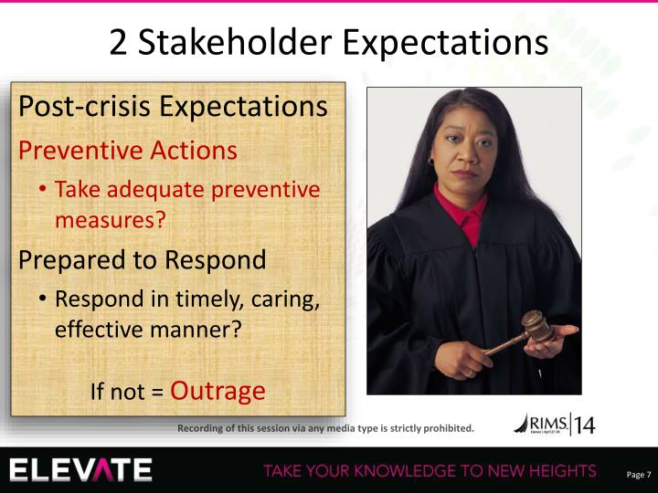 2 Stakeholder Expectations