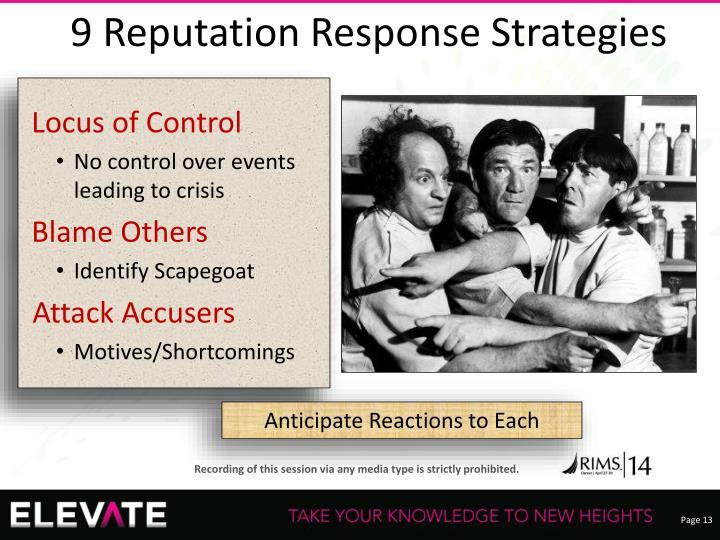 9 Reputation Response Strategies