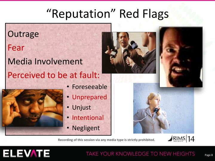 """Reputation"" Red Flags"