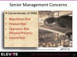 senior management concerns