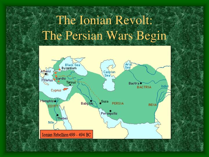 The ionian revolt the persian wars begin