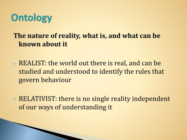 What is ontology in research methods