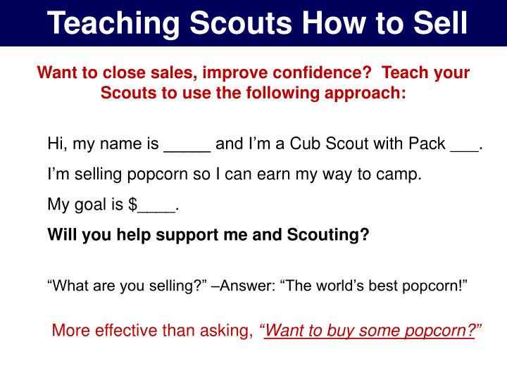 Teaching Scouts How to Sell