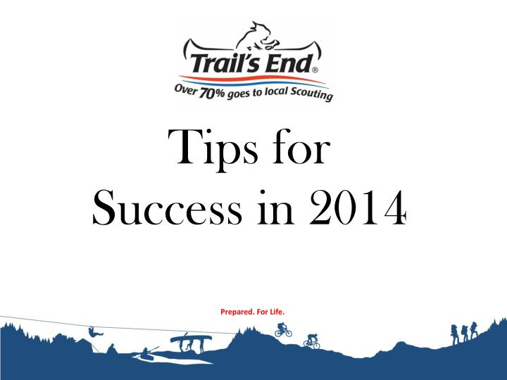 Tips for Success in 2014