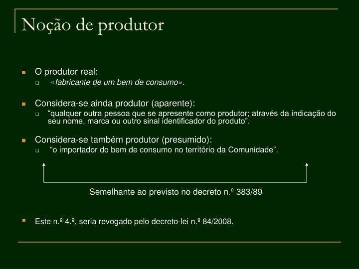 Noção de produtor